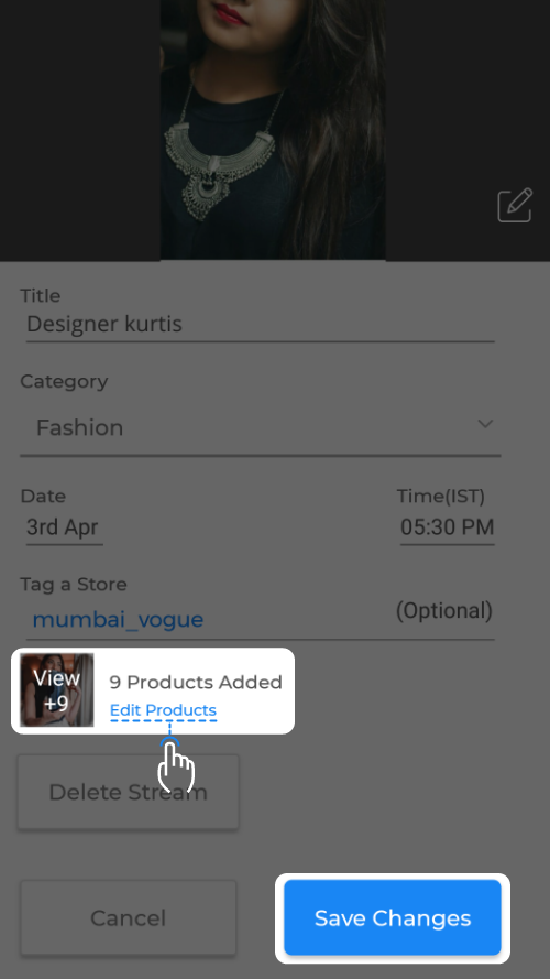 Edit Product Option